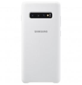 Husa Silicone Cover pentru Samsung Galaxy S10+, White
