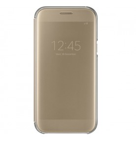 Husa Clear View Cover Samsung Galaxy A5 (2017), Gold