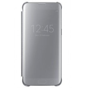 Husa Clear View Cover Samsung Galaxy S7 Edge, Silver
