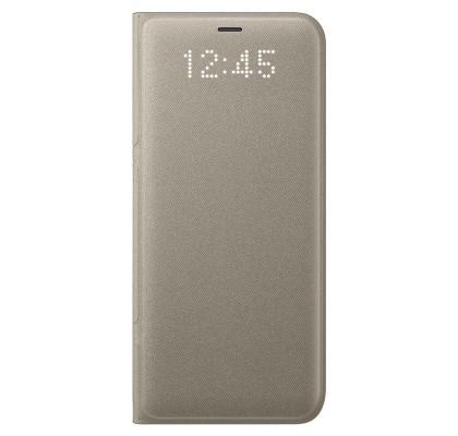 Husa LED View Cover pentru Samsung Galaxy S8, Gold