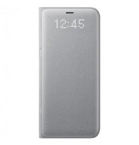Husa LED View Cover pentru Samsung Galaxy S8, Silver