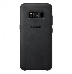 Husa Alcantara Cover pentru Samsung Galaxy S8, Silver Gray