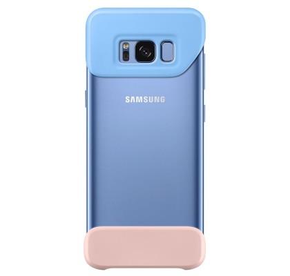 Husa 2 Piece Cover Samsung Galaxy S8 G950, Blue si Peach