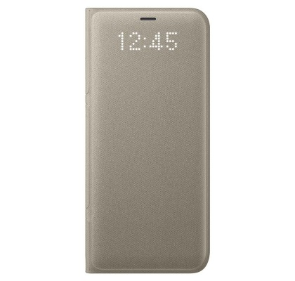 Husa LED View Cover pentru Samsung Galaxy S8 Plus, Gold