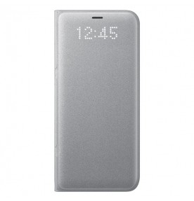 Husa LED View Cover pentru Samsung Galaxy S8 Plus, Silver