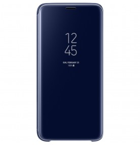 Husa Clear View Standing Cover Samsung Galaxy S9, Blue