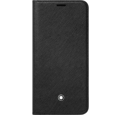 Husa Flip Wallet Montblanc Sartorial pentru Samsung Galaxy S9, Black