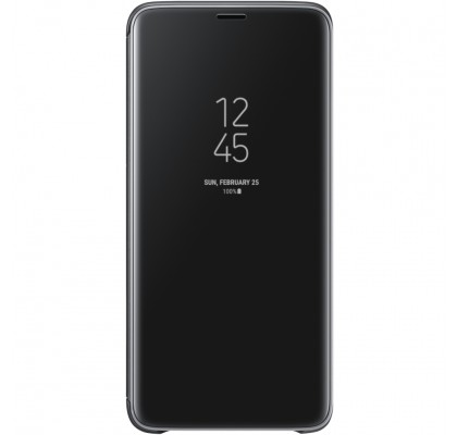Husa Clear View Standing Cover Samsung Galaxy S9 Plus, Black