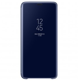 Husa Clear View Standing Cover Samsung Galaxy S9 Plus, Blue