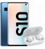 Pachet PROMO Samsung: Galaxy S10, 128GB, Blue & Galaxy Buds+, White
