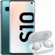 Pachet PROMO Samsung: Galaxy S10, 128GB, Green & Galaxy Buds+, White