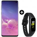 Pachet PROMO Samsung Galaxy S10, 512GB, Black + Galaxy Fit, Black