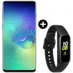 Pachet PROMO Samsung Galaxy S10, 512GB, Green Tale + Galaxy Fit, Black