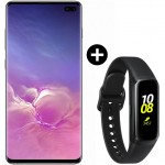 Pachet PROMO Samsung Galaxy S10+, 512GB, Ceramic Black + Galaxy Fit, Black
