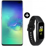 Pachet PROMO Samsung Galaxy S10+, 128GB, Green + Galaxy Fit, Black