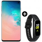 Pachet PROMO Samsung Galaxy S10, 128GB, White + Galaxy Fit, Black