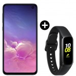 Pachet PROMO Samsung Galaxy S10e, 128GB, Black + Galaxy Fit, Black