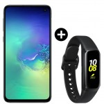 Pachet PROMO Samsung Galaxy S10e, 128GB, Green Tale + Galaxy Fit, Black