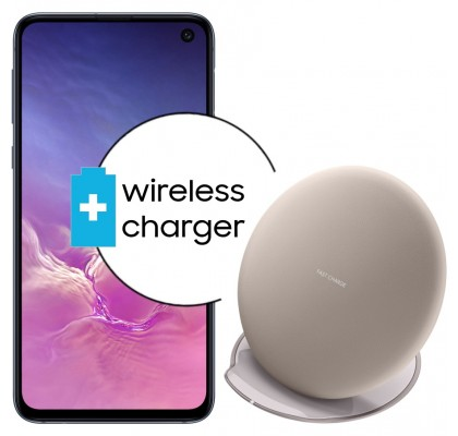 Pachet PROMO Samsung Galaxy S10e, 128GB, Black + Wireless Charger