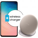 Pachet PROMO Samsung Galaxy S10e, 128GB, White + Wireless Charger
