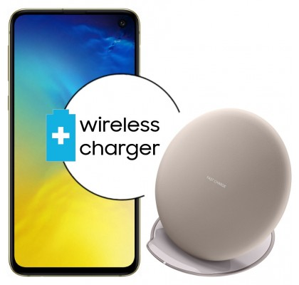 Pachet PROMO Samsung Galaxy S10e, 128GB, Canary Yellow + Wireless Charger