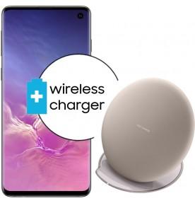 Pachet PROMO Samsung Galaxy S10, 512GB, Black + Wireless Charger