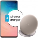 Pachet PROMO Samsung Galaxy S10, 128GB, White + Wireless Charger