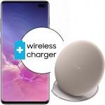 Pachet PROMO Samsung Galaxy S10+, 512GB, Ceramic Black + Wireless Charger