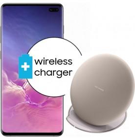 Pachet PROMO Samsung Galaxy S10+, 128GB, Black + Wireless Charger