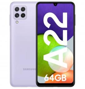 Samsung Galaxy A22, 4G, 64GB, 4GB RAM, Dual SIM, Violet