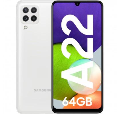 Samsung Galaxy A22, 4G, 64GB, 4GB RAM, Dual SIM, White