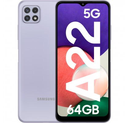 Samsung Galaxy A22, 5G, 64GB, 4GB RAM, Dual SIM, Violet