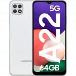 Samsung Galaxy A22, 5G, 64GB, 4GB RAM, Dual SIM, White