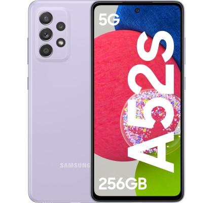 Samsung Galaxy A52s 5G, 256GB, 8GB RAM, Dual SIM, Awesome Violet