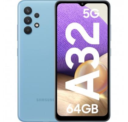 Samsung Galaxy A32, 5G, 64GB, 4GB RAM, Dual SIM, Awesome Blue