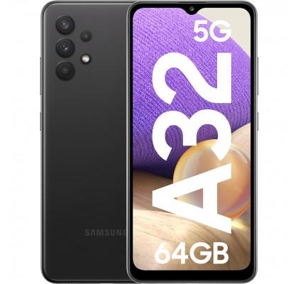 Samsung Galaxy A32, 5G, 64GB, 4GB RAM, Dual SIM, Awesome Black