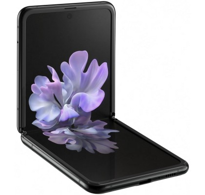 Samsung Galaxy Z Flip 4G, 256GB, 8GB RAM, Dual SIM, Mirror Black