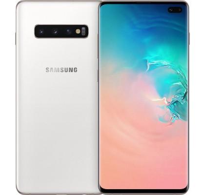 RESIGILAT: Telefon mobil Samsung Galaxy S10 Plus, Dual SIM, 1TB, LTE, Ceramic White