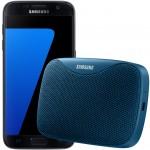 Pachet PROMO Samsung: Galaxy S7, 32GB, 4G, Black + Level Box Slim, Blue