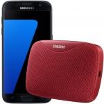 Pachet PROMO Samsung: Galaxy S7, 32GB, 4G, Black + Level Box Slim, Red