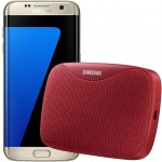 Pachet PROMO Samsung: Galaxy S7 Edge, 32GB, Gold + Level Box Slim, Red