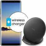 Pachet PROMO Samsung: Galaxy Note 8, 64GB, Black + Convertible Wireless Charger