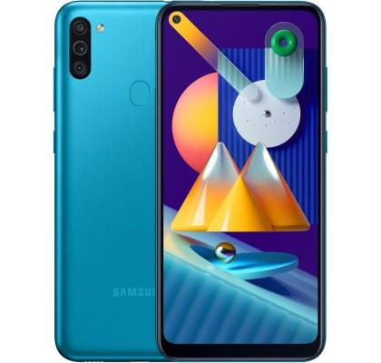 Telefon mobil Samsung Galaxy M11 (2020), Dual SIM, 32GB, LTE, Metallic Blue
