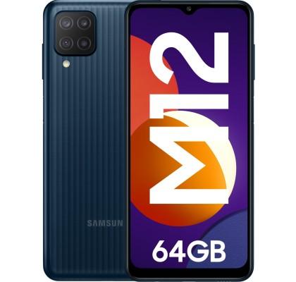 Samsung Galaxy M12 (2021), 64GB, 4GB RAM, Dual SIM, 4G, Black